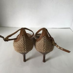Enzo Angiolini Shoes - Enzo Angiolini Woven Brown & Beige High Heel Shoes